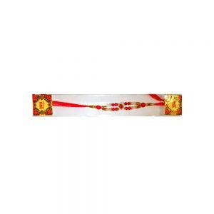 rakhi with red beads