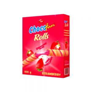 sujal chocofun rolls strawberry 100g