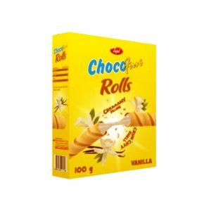 sujal chocofun rolls vanilla 100g